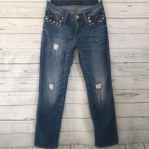 Rock & Republic Indee Midrise Distressed Jeans 2M
